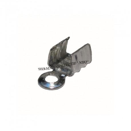 Veterklemmen 5 mm zilverplated (1000 stuks)