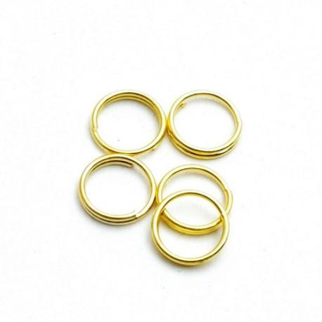 Splitringetjes 6 mm goudplated (100 stuks)