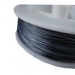 Staaldraad met nylon coating, rol 10 m, kleur antraciet