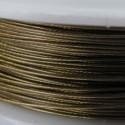 Staaldraad met nylon coating, rol 10 m, kleur goud