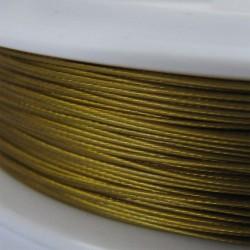 Staaldraad met nylon coating, rol 10 m, kleur geelgoud