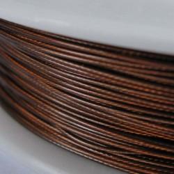 Staaldraad met nylon coating, rol 10 m, kleur roestbruin