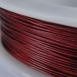 Staaldraad met nylon coating, rol 10 m, kleur rood