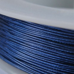 Staaldraad met nylon coating, rol 10 m, kleur blauw