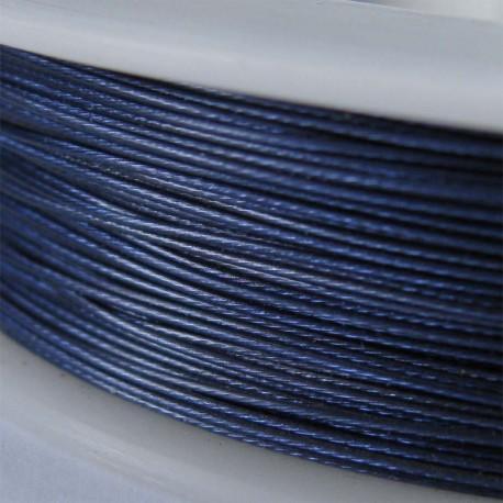 Staaldraad met nylon coating, rol 10 m, kleur jeansblauw