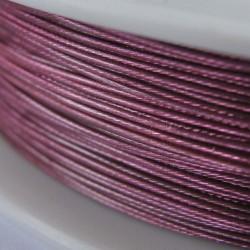 Staaldraad met nylon coating, rol 10 m, kleur roze