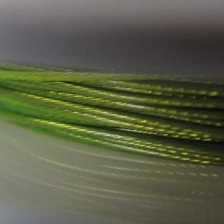 Staaldraad met nylon coating, rol 10 m, kleur groen (peridot, lime)