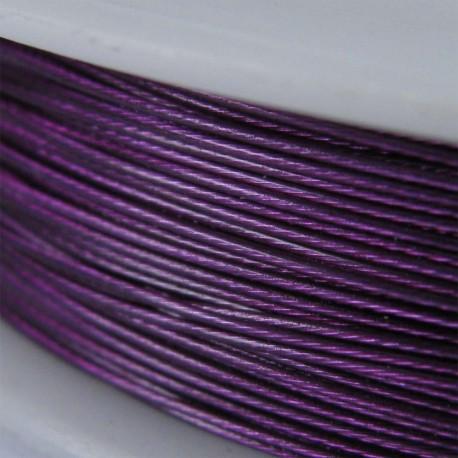 Staaldraad met nylon coating, rol 10 m, kleur paars