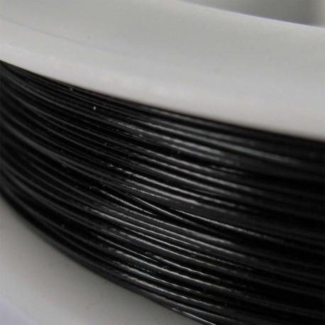 Staaldraad met nylon coating, rol 10 m, kleur zwart
