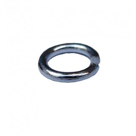 Ringetjes (open), 5 mm zilverplated (100 stuks)