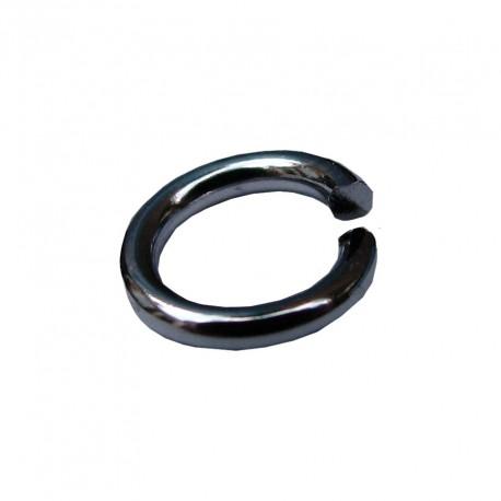 Ringetjes (open), 5 mm staalplated (100 stuks)