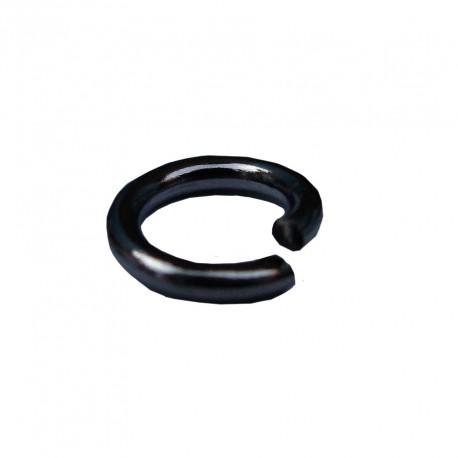 Ringetjes (open), 5 mm blackplated (100 stuks)