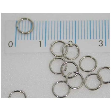 Splitringetjes 6 mm zilverplated (100 stuks)