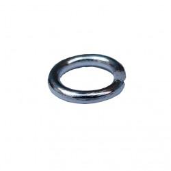 Ringetjes (open), 7 mm zilverplated (100 stuks)