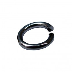 Ringetjes (open), 7 mm staalplated (100 stuks)