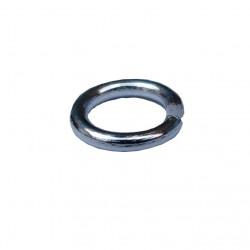 Ringetjes (open), 12 mm zilverplated (100 stuks)