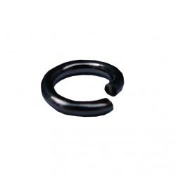 Ringetjes (open), 12 mm blackplated (100 stuks)