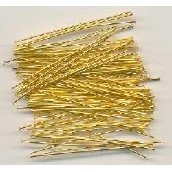 Nietstiften 20 mm goudplated (200 stuks)