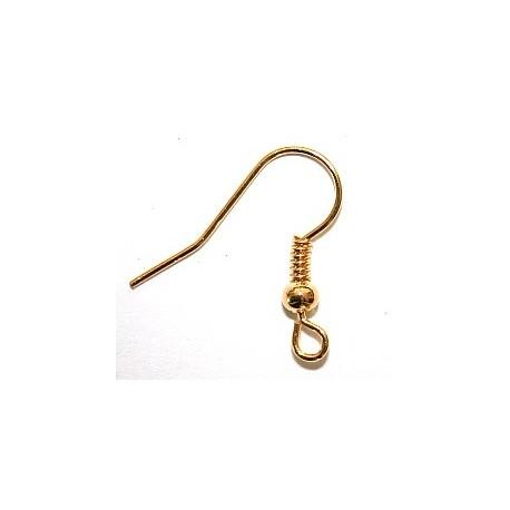 """Oorbellen, hangend model 'open"""" goudplated (per set van 2 stuks)"""