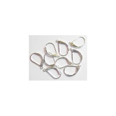 """Oorbellen, hangend model 'dicht"""" zilverplated (per set van 2 stuks)"""