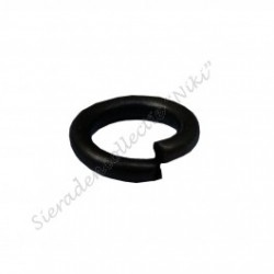 Ringetjes (open), 12 mm bronsplated (1000 stuks)