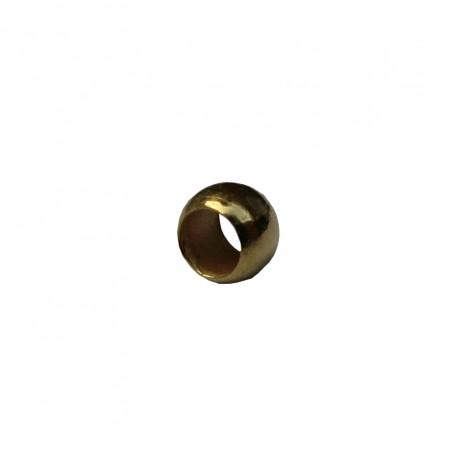 Knijpkralen 2 mm goudplated